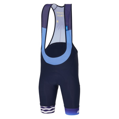 BIB SHORT SANTINI TONO STUDIO BORDEAUX FLUO ORANGE PINK