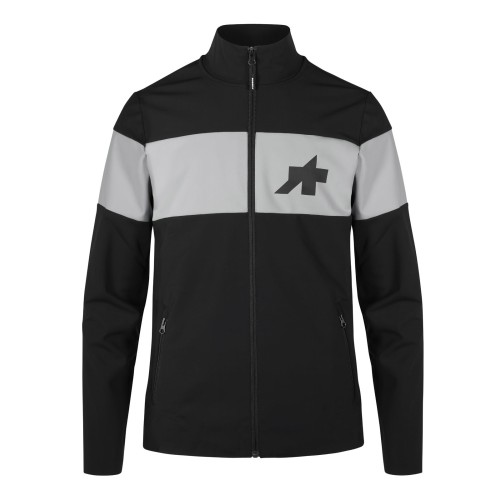 CAP ASSOS EQUIPE RS RAIN BLACK ORANGE FLUO